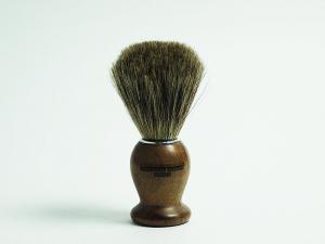 Кисточка-помазок из щетины барсука, ручка орех
