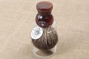 Кисточка-помазок для бритья, черный барсучий ворс, акрил