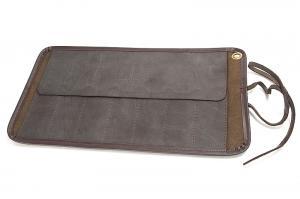 Кожаный пенал для 7 опасных бритв, коричневый