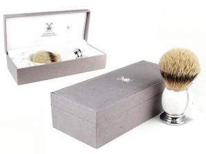 Кисточка-помазок для бритья, серебряный барсук 93 P 84