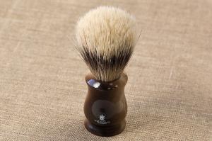 Кисточка-помазок для бритья, конский+искусственный ворс, акрил