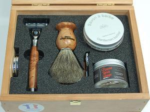 Элитный бритвенный набор Gillette MACH3 5 предметов в деревянной коробке