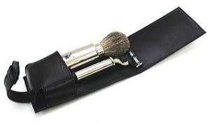 Элитный бритвенный набор в кожаном футляре (2 предмета)