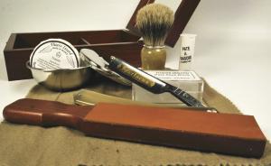 Элитный набор для бритья с опасной бритвой